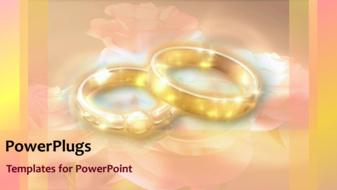 PowerPoint Template - Wedding rings background